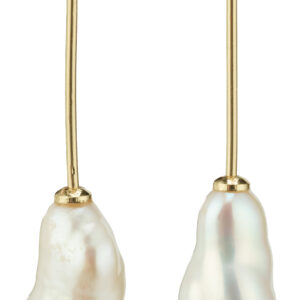 112122003 earrings gold plated white karma pilgrim