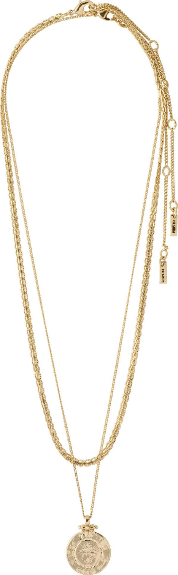 132122011 necklace nomad goldplated karma pilgrim 2