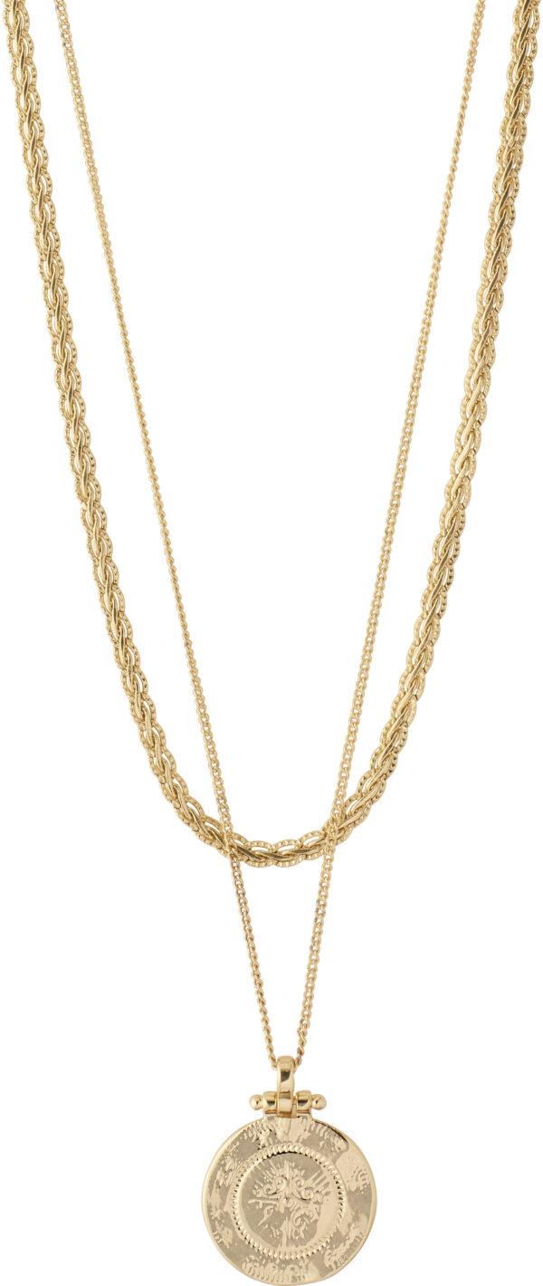 132122011 necklace nomad goldplated karma pilgrim