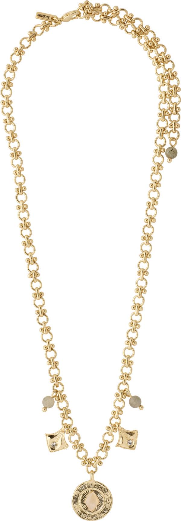 132122021 necklace nomad gold plated crystal karma pilgrim 2