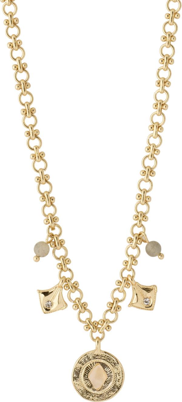 132122021 necklace nomad gold plated crystal karma pilgrim