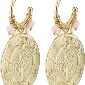 132122033 earrings nomad gold plated rose karma pilgrim