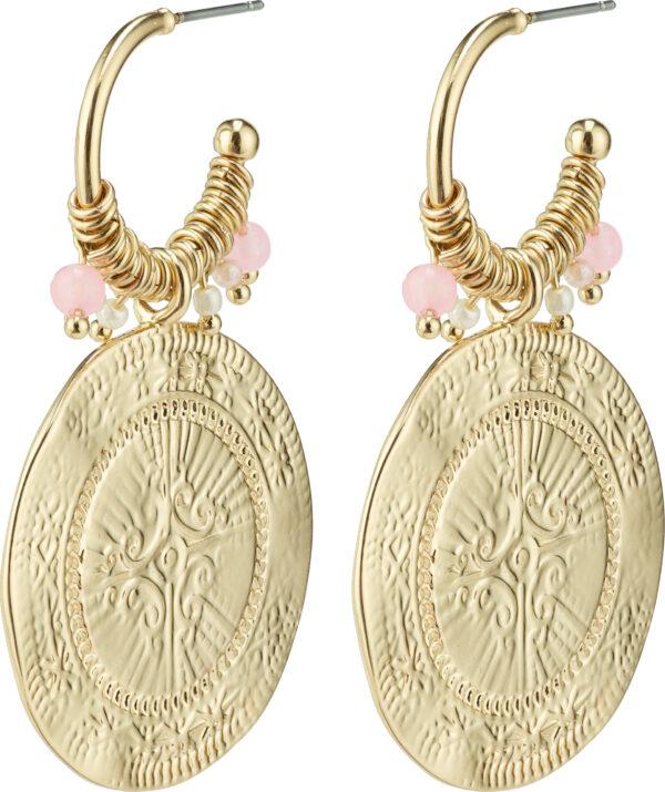 132122033 earrings nomad gold plated rose karma pilgrim