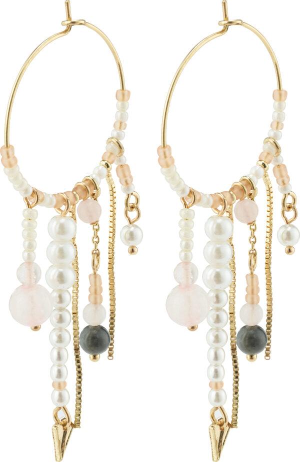 132122823 earrings nomad gold plated rose karma pilgrim