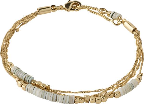 142122002 bracelet sincerity gold plated grey karma pilgrim