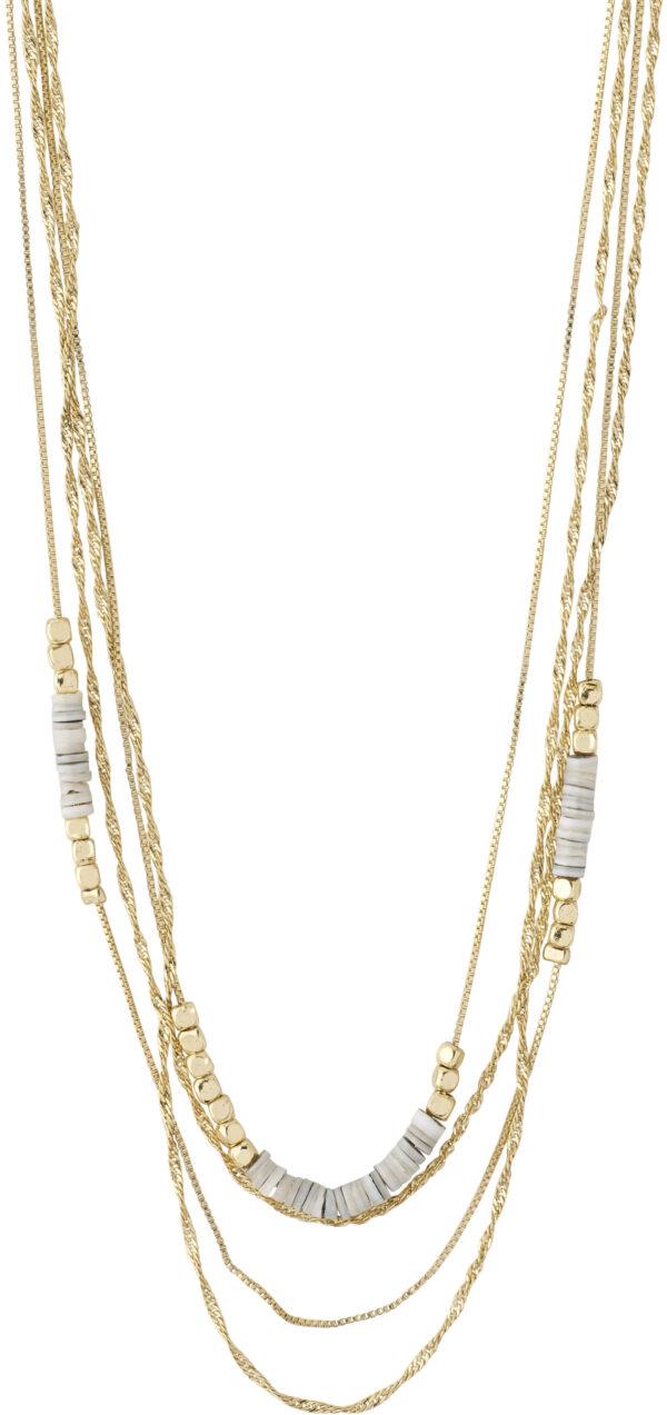 142122011 necklace sincerity gold plated grey karma pilgrim