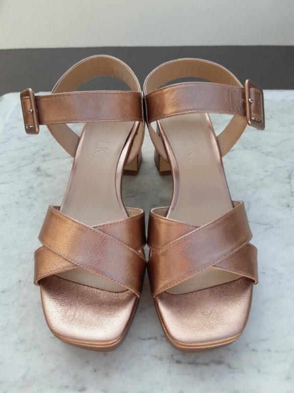 ctwlk metallic brons sandaal karma 3