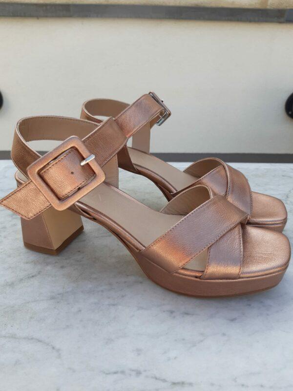 ctwlk metallic brons sandaal karma 1