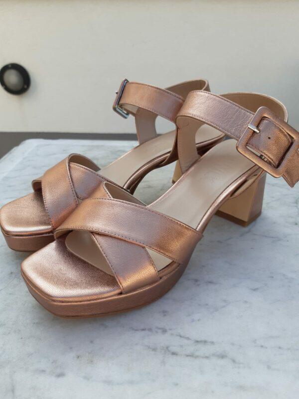 ctwlk metallic brons sandaal karma 2