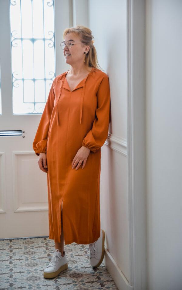 nathalie Vleeschouwer jurk valencia terracotta karma 2
