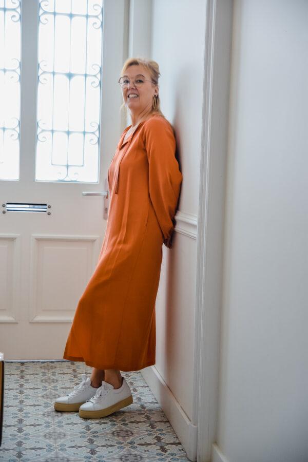 nathalie Vleeschouwer jurk valencia terracotta karma