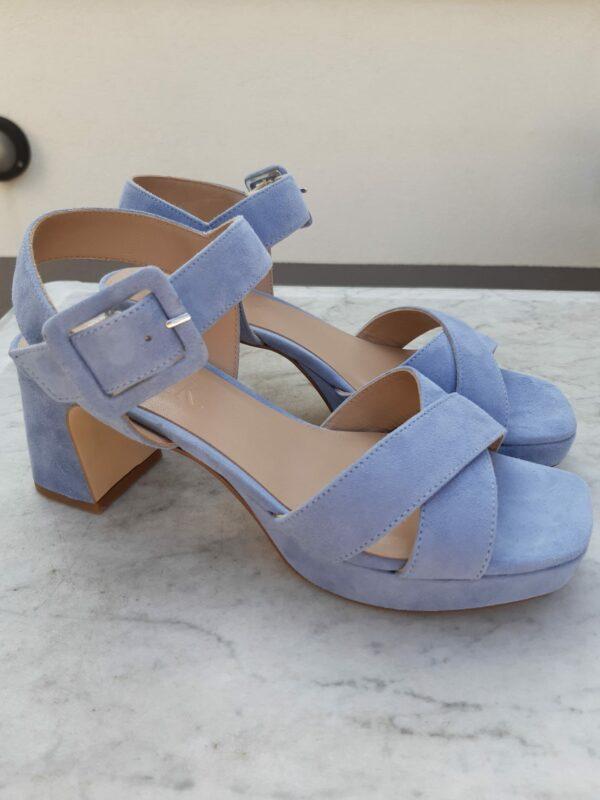 ctwlk suede blauwe sandaal karma 1