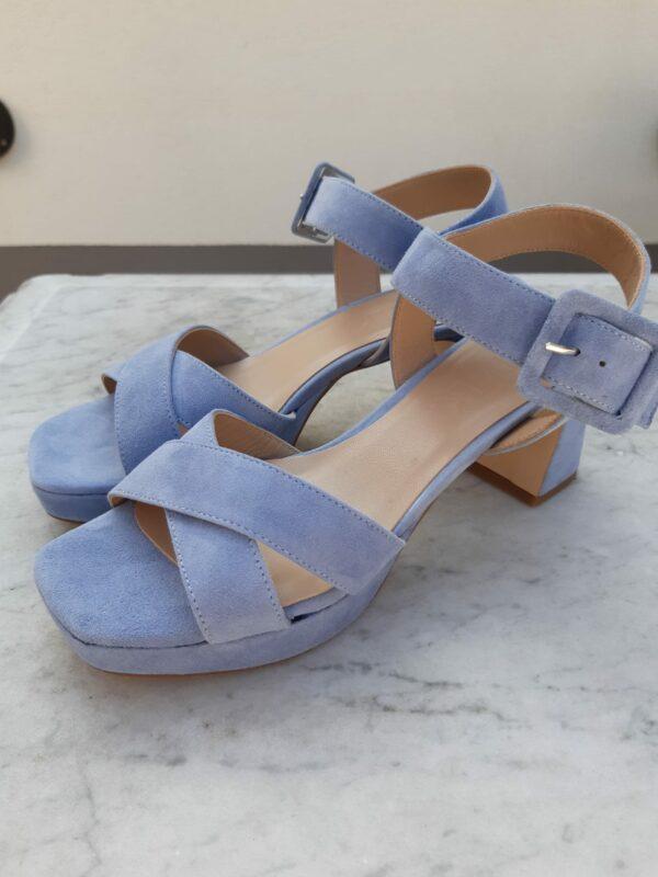 ctwlk suede blauwe sandaal karma 2