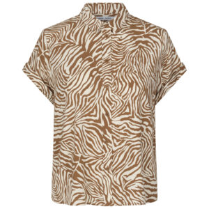 samsoe_Majan ss shirt 9942 - Mountain Zebra - karma