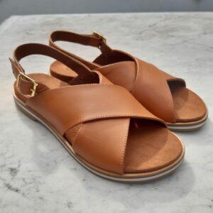 ctwlk platte sandaal cognac karma 1