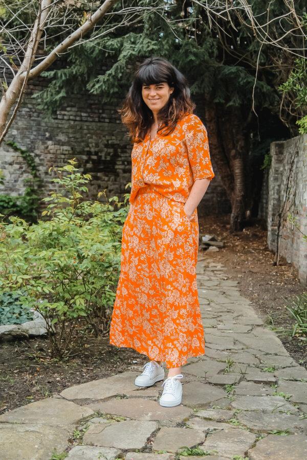YAS oranje rok en bloes karma 1