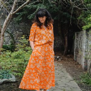 YAS oranje rok en bloes karma 2