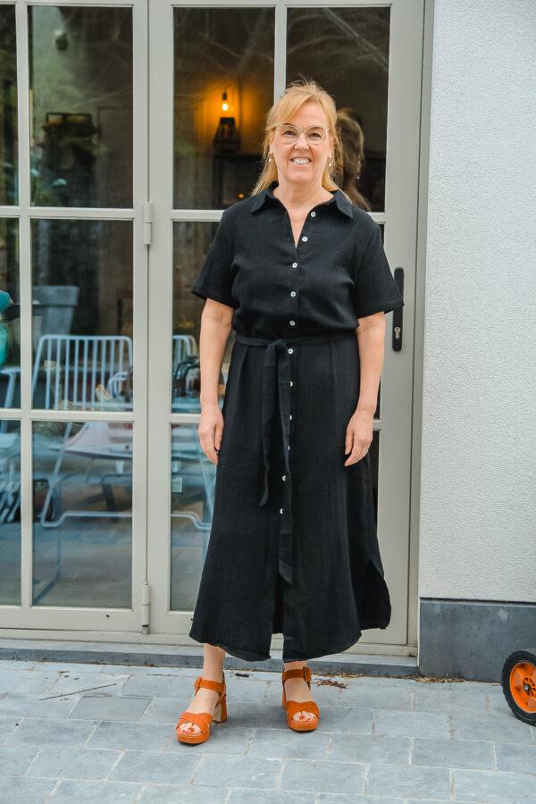nukus tetra jurk zwart karma 2
