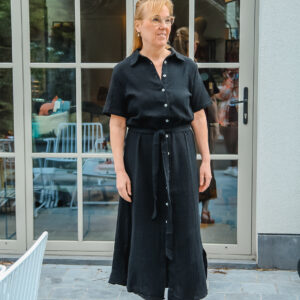 nukus tetra jurk zwart karma 1