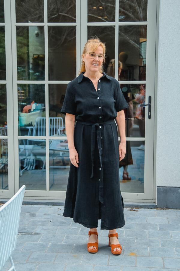 nukus tetra jurk zwart karma 3