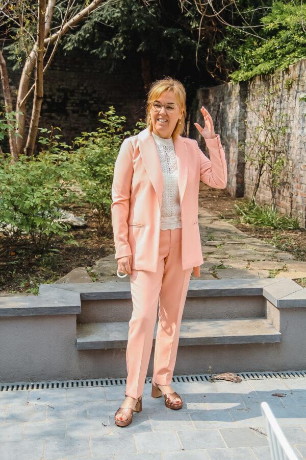 esqualo vest en broek roze karma 4