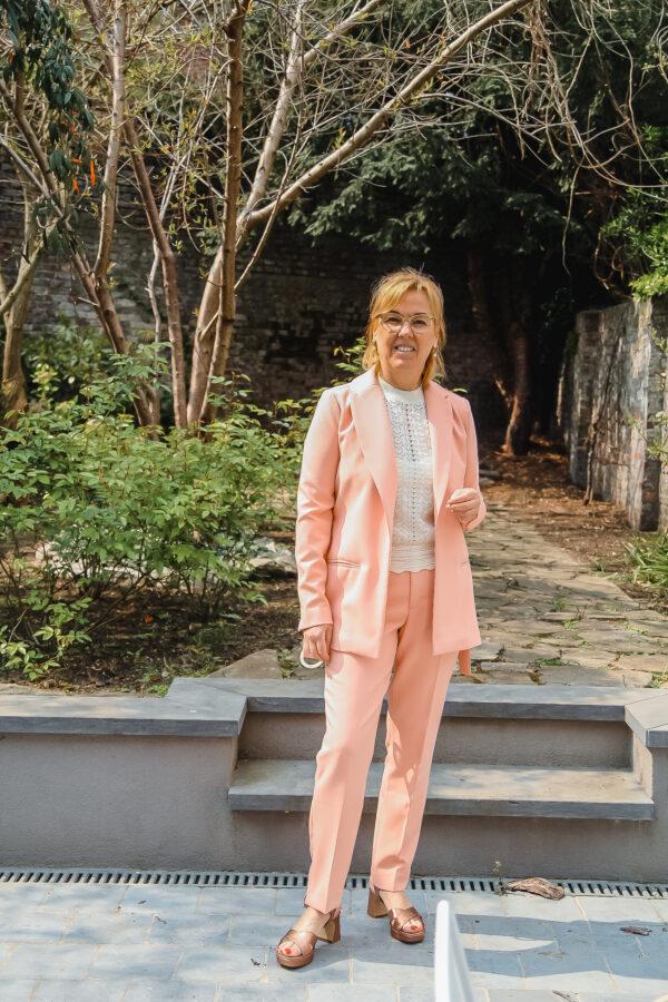 esqualo vest en broek roze karma 1