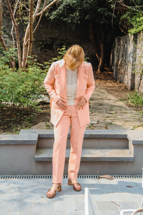 esqualo vest en broek roze karma 3