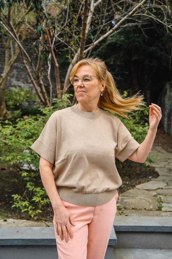 selected femme pull beige karma 2