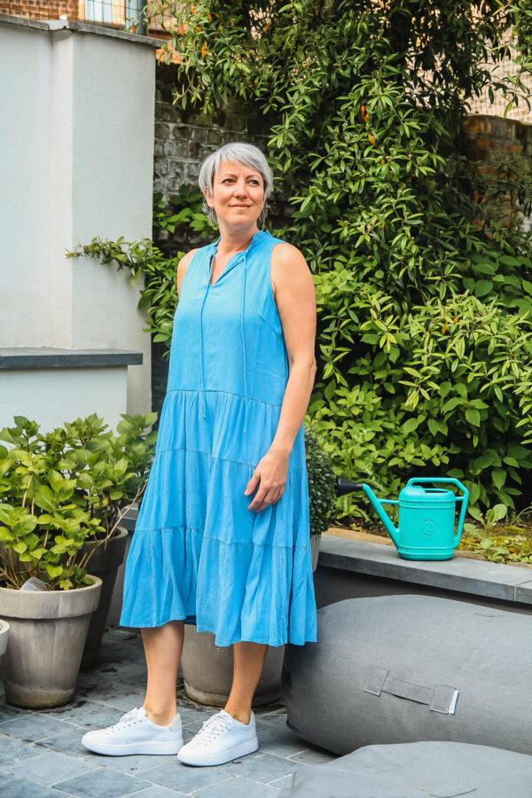 yas blauwe jurk karma 4
