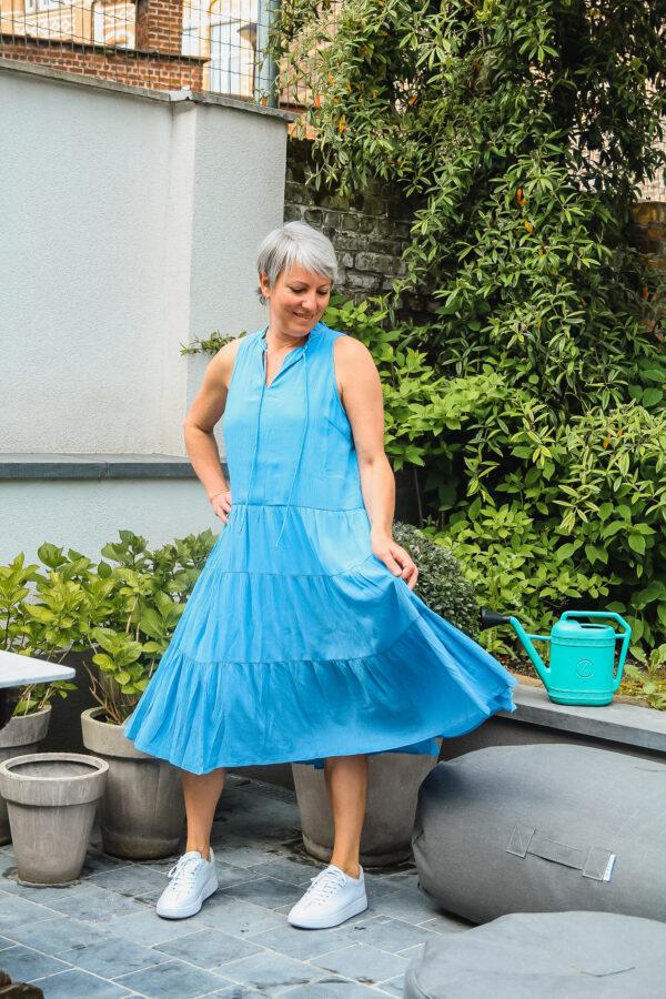 yas blauwe jurk karma 1