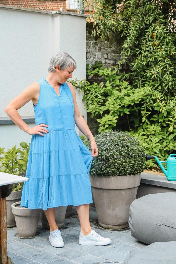 yas blauwe jurk karma 2